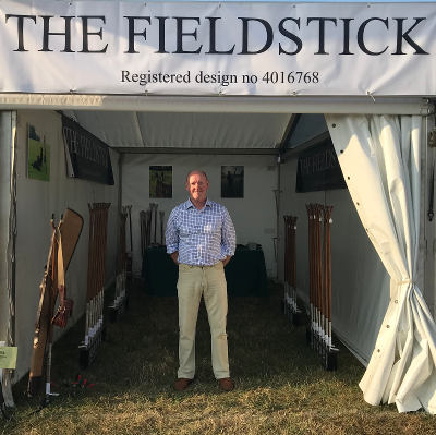 Paul on the Fieldstick Stand at the 2018 Game Fair